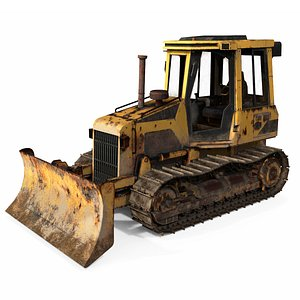 3D Old Bulldozer model