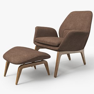 3D Lounge Chair Oak - PBR