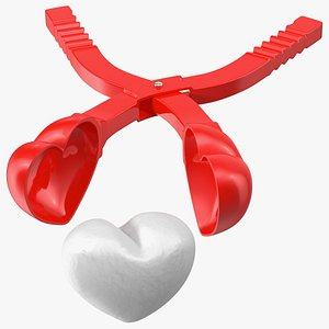 Heart Shaped Snowball Maker Tool with Snowball model