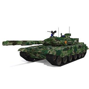 3D ZTZ type 99 tank model