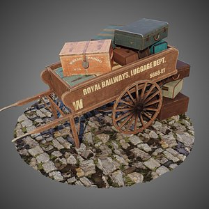 cart luggage 3D
