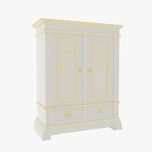 3D model Victorian Closet