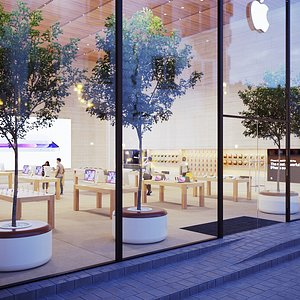 3D model Apple Store - Hyper Realistic