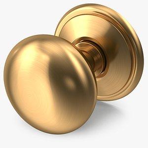 door knob golden 3D