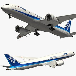 3D boeing 787 ana model