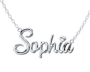 Necklace Pendant Sophia Font Shiny-NPFN0001 3D model