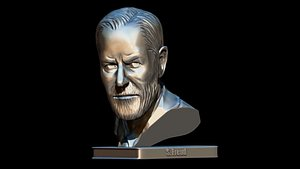 3D bust of Sigmund Freud for printing