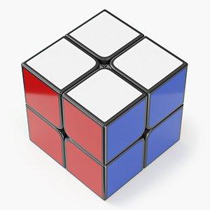 3D cube 2x2 model