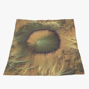 Eroded Desert Crater 3D model