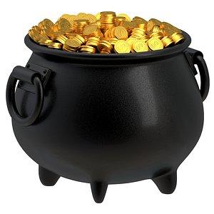 pot gold 3D