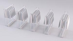 unisex shirts rack 5 3D model