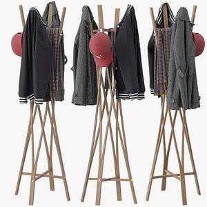 3D Coat Rack Tra model