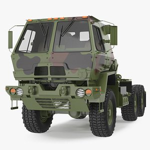Oshkosh FMTV 5 Ton Tractor Camo 3D model
