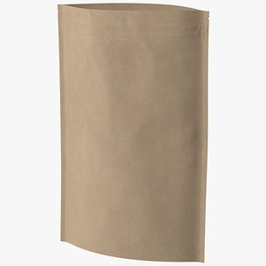 zipper kraft paper bag 3D