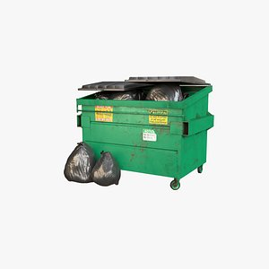 dumpster container 3D model
