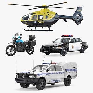 police transport 2 3D model
