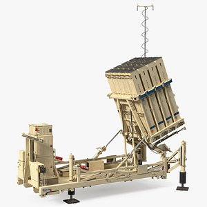 Armed Iron Dome Mobile Air Defense System 3D