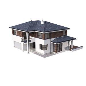 cottage house 3D model