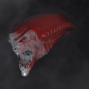 designs alien creature head 3D model