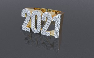3D ring new year hip hop
