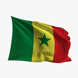 Realistic Animated Flag - Microtexture Rigged - Put your own texture - Def Senegal 3D