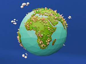 3D Low Poly Earth