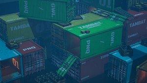 cargo container model