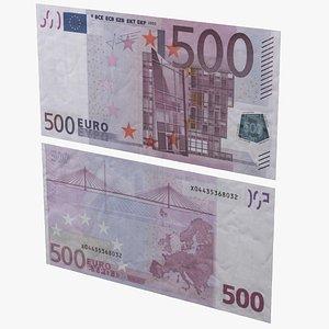 3D Euro Bill model