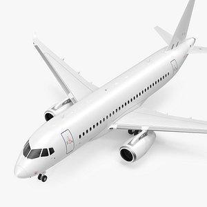 3D SSJ100 Aircraft Rigged