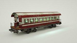 3D old train wagoon