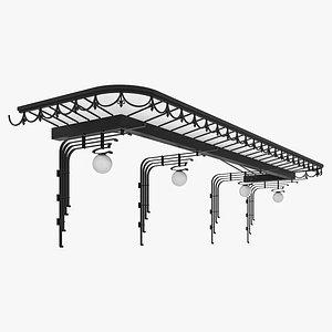 3D Canopy door model