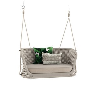 1 seater garden hanging chair By Atmosphera 3D model