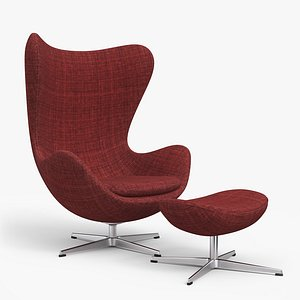3D egg lounge chair model