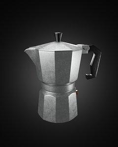coffee pot 3D