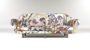 3D Vintage Sofa