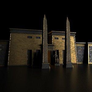 3D model temple pharao pharaoh