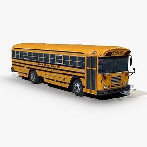 3D blue bird tc2000 school bus