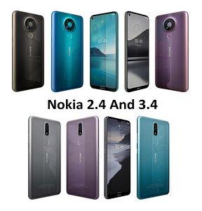 nokia 2 4 3 3D model