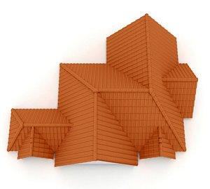 Realistic Roof Shingles 16 3D