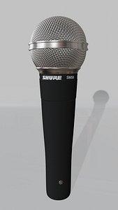 3D model SHURE SM 58