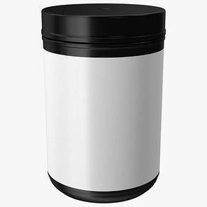 Multivitamin Blank Jar 3D model