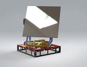 3D Heliostat Solar Sun Tracker Printable