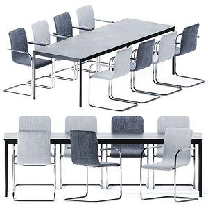 Metal Base Table By Muuto model