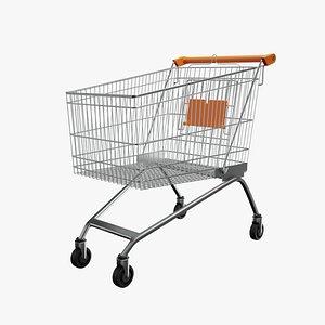 3D Shopping Cart Orange