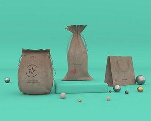 3D bag gift model