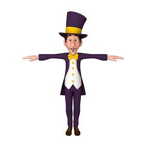 3D magic cartoon magician model