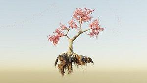 3D tree cherry blossom