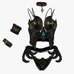 3D sculpt armor model