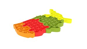 3D United States Map of Puzzle Pop It model