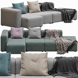 Hay Sofa Mags 3 Seater 3D model